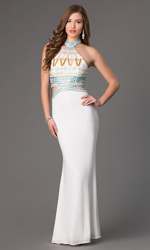 e2796c344f9f3 High Neck Mock Two Piece Dave and Johnny Dress
