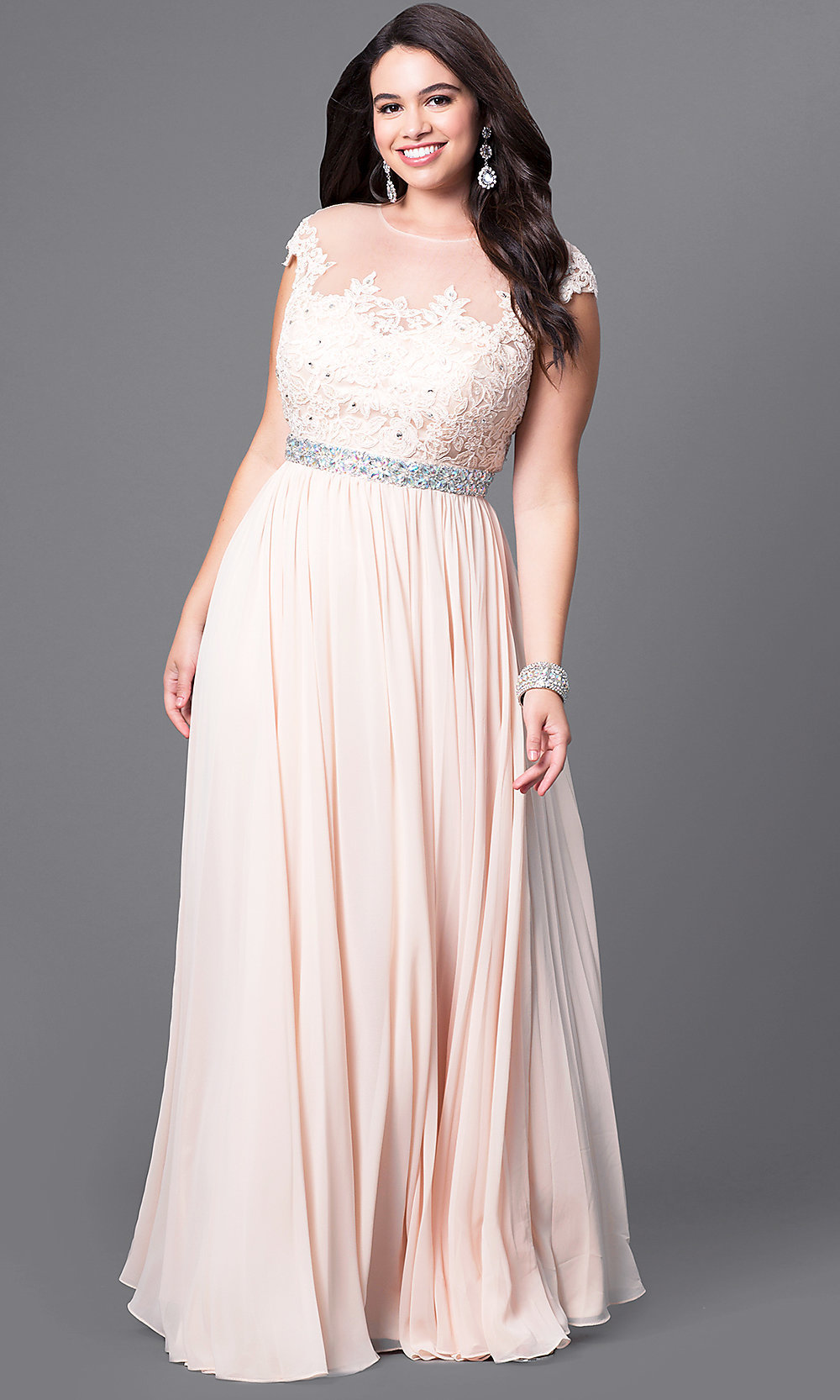 Plus-Size Ball Gowns, Formal Plus Gowns - PromGirl