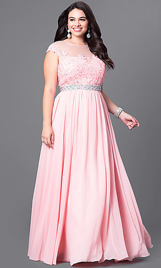Long Plus Size Dresses, Plus Size Prom Gowns