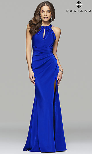 Floor Length Criss-Cross Open Back Dress