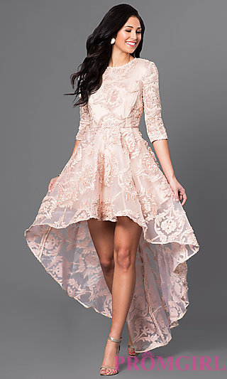 short sleeve prom dresses