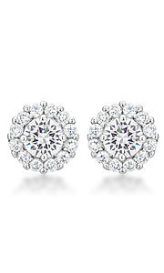 Round Clear Cubic Zirconia Studs