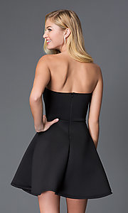 Image of strapless sweetheart short party dress with beads. Style: CL-43713-v Back Image