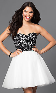 Short Strapless Sweetheart Tulle Dress