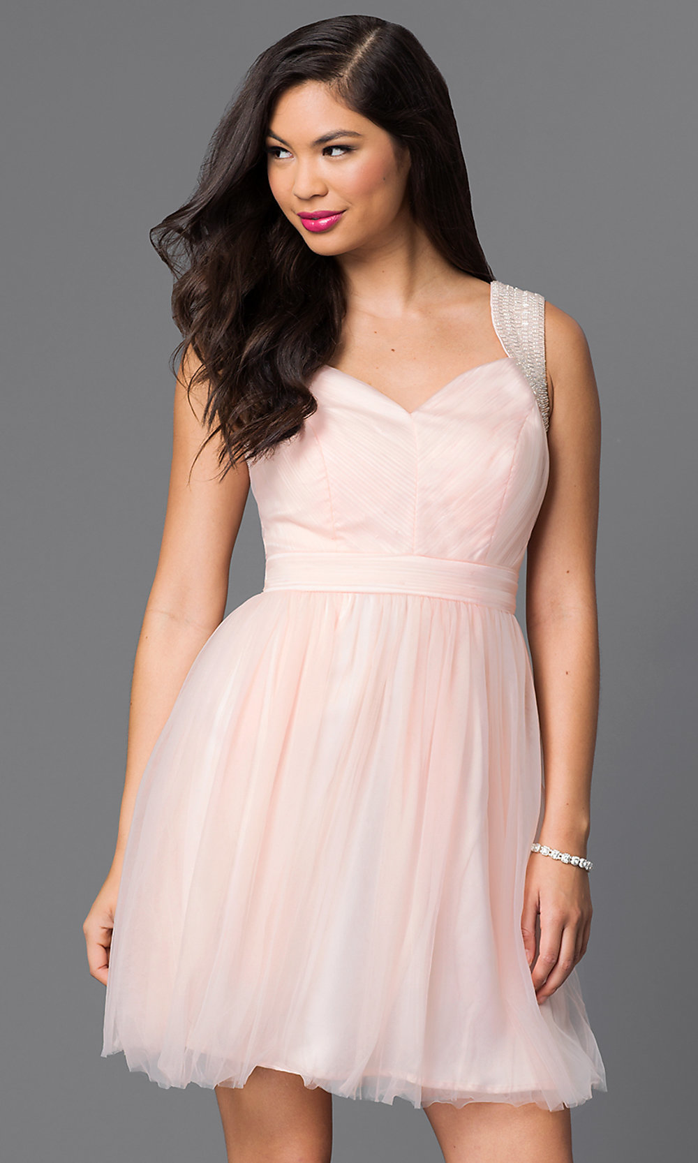 Cute Short Homecoming Dress With Sequins Promgirl