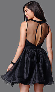 Image of short sweetheart sleeveless dress Style: CL-DI262 Back Image