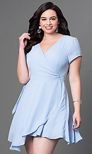 Front Wrap Short Dress