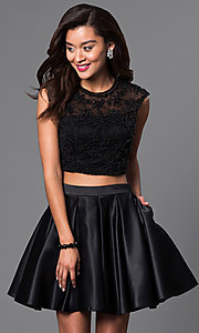Two Piece Short Dress with Beading