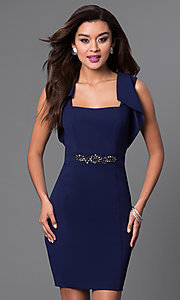 Navy Blue Short Sleeveless Dress