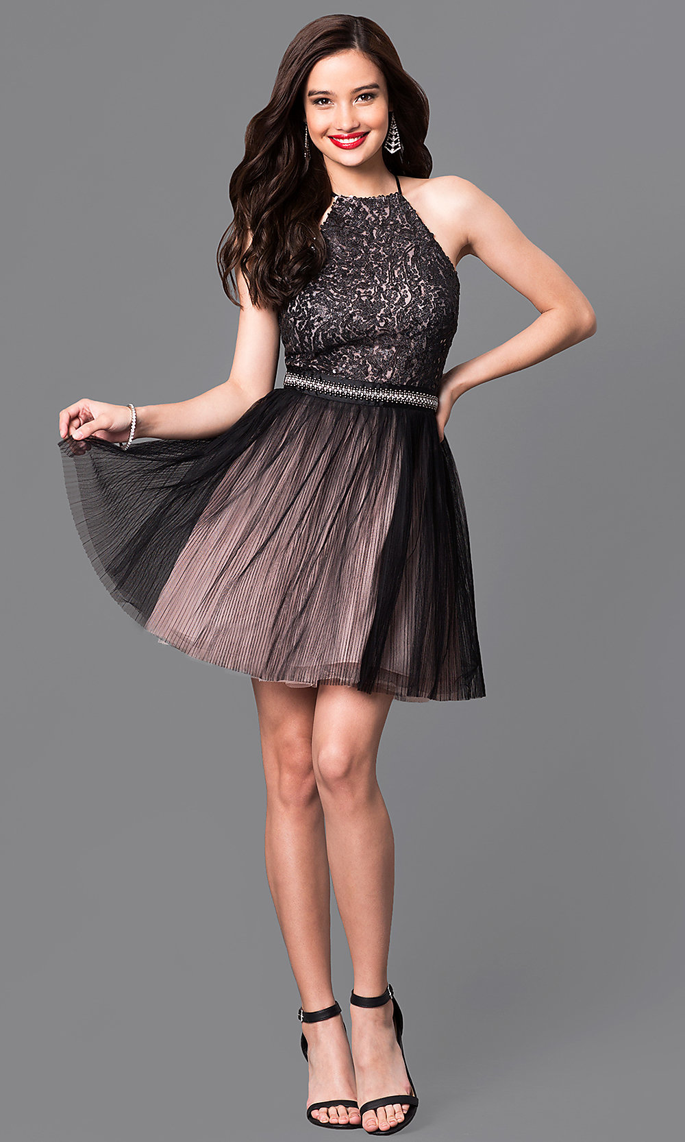 Halter Short Homecoming Dresses