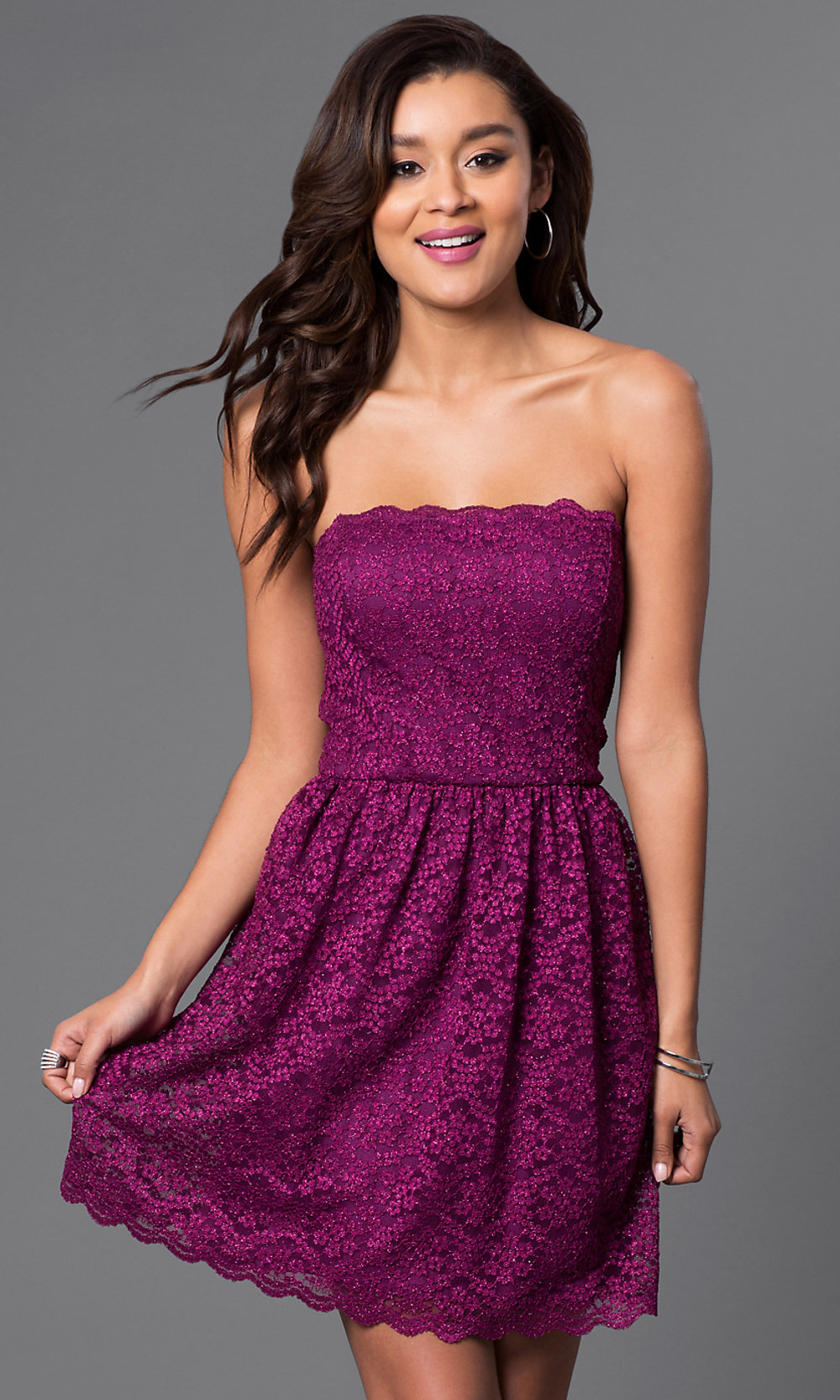 Short Trendy Lace Party Dresses - PromGirl