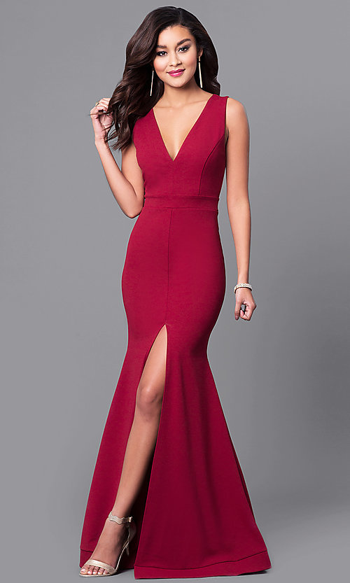 V Neck Neckline Dress