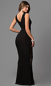 Image of long sleeveless scoop-neck mermaid dress. Style: SY-D20045H Back Image