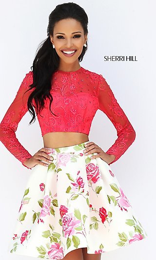 Sleeved Long Gowns, Prom Dresses - PromGirl