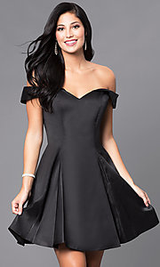 Sherri Hill Off-the-Shoulder Homecoming Dress