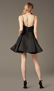Image of v-neck short a-line homecoming party dress. Style: JO-JVN-JVN47315 Back Image