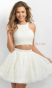 Two Piece Cream Homecoming Dress by Blush