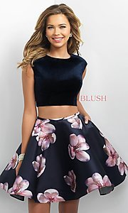 Two Piece Floral Print Dress by Blush
