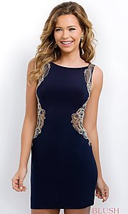 Navy Blue Party Dress from Intrigue by Blush