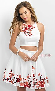 Image of two-piece homecoming dress from Intrigue by Blush. Style: BL-IN-217 Front Image