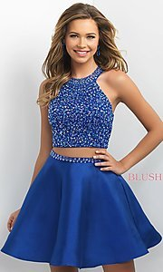 Two-Piece A-Line Intrigue by Blush Homecoming Dress