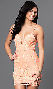 Lace Spaghetti-Strap Mini Dress