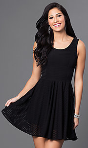 Scoop Neck Short Sleeveless Dress