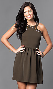Short Semi-Casual Sleeveless Dress