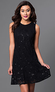 Short Lace Sleeveless Dress