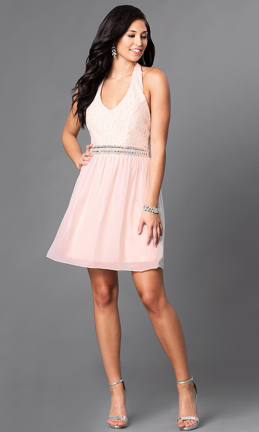4aba5baccaa ... short halter homecoming dress. Style  SS-. Tap to expand