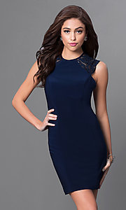Faviana Short High Neck Homecoming Dress