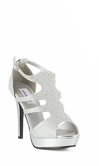 Silver Prom Shoes Sexy Silver High Heels