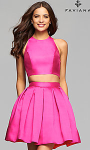 Two-Piece Homecoming Dress with Open Back by Faviana