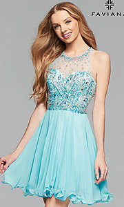 Faviana Illusion-Sweetheart Short Homecoming Dress