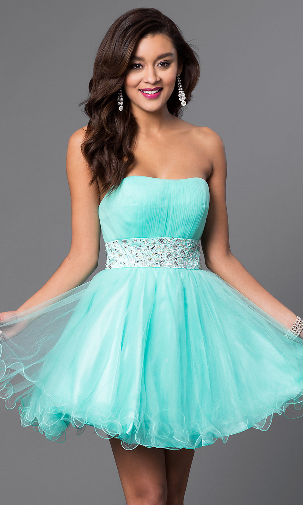 Designer Babydoll Party Dress with Corset - PromGirl