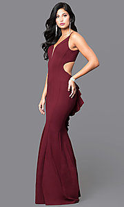 Faviana V-Neck Long Open Back Formal Dress