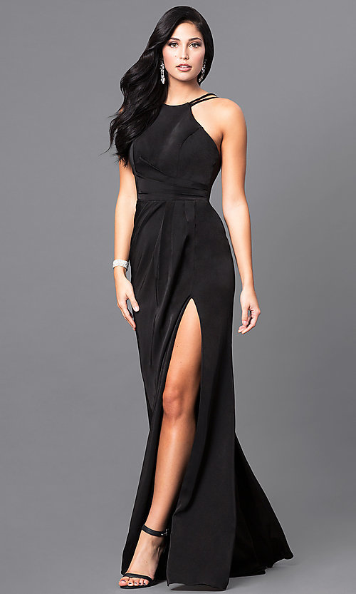 Image of long high-neck Faviana formal dress.  Style: FA-7904 Detail Image 3