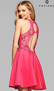 Open Back Short Homecoming Dress by Faviana