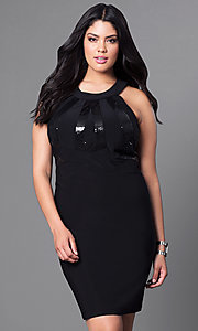 Cut-Out Back Empire Waist Plus-Size Dress