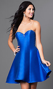 Royal Blue Short A-Line Dress
