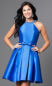 Short A-Line Satin Dress
