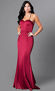 Mermaid Satin Sweetheart Formal Dress with Train