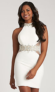 Madison James Open Back Homecoming Dress