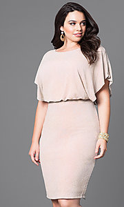 Knee Length Party Dress with Dolman Sleeves