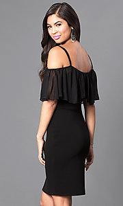 Image of black As U Wish short dress with adjustable straps. Style: AS-i548828e1 Back Image