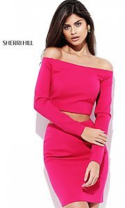 Off the Shoulder Sherri Hill Two Piece Dress