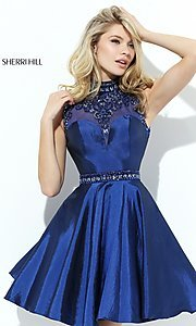 High Neck Sherri Hill Dress