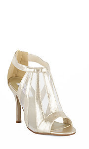 Champagne Shimmer Prom Shoes