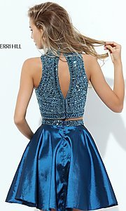 Image of sleeveless two-piece homecoming dress by Sherri Hill. Style: SH-50523 Back Image