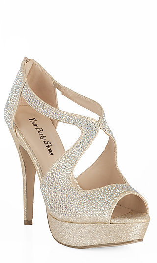 Sexy Gold Prom Shoes and High Heels for Prom